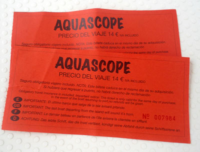 aquascope ticket isla de benidorm